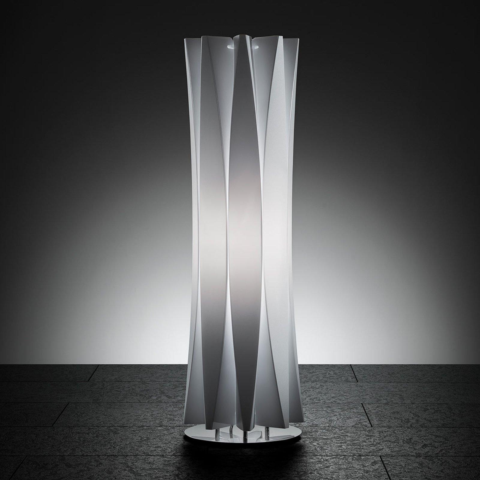Smakfull bordlampe BACH, høyde 73 cm hvit