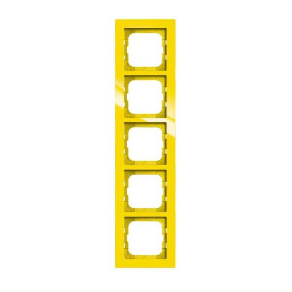 ABB Axcent Yhdistelmäkehys keltainen 5-paikkainen