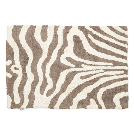 Badrumsmatta Zebra 60x90 Simply Taupe/Vit