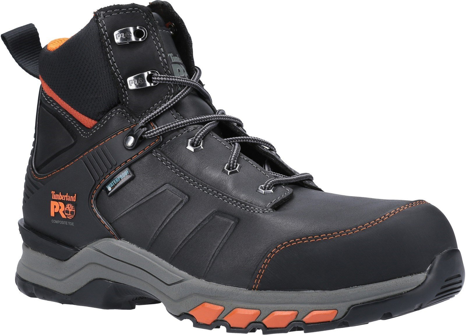 Timberland Pro Men's Hypercharge Safety Toe Work Boot Various Colours 30948 - Black/Orange 6