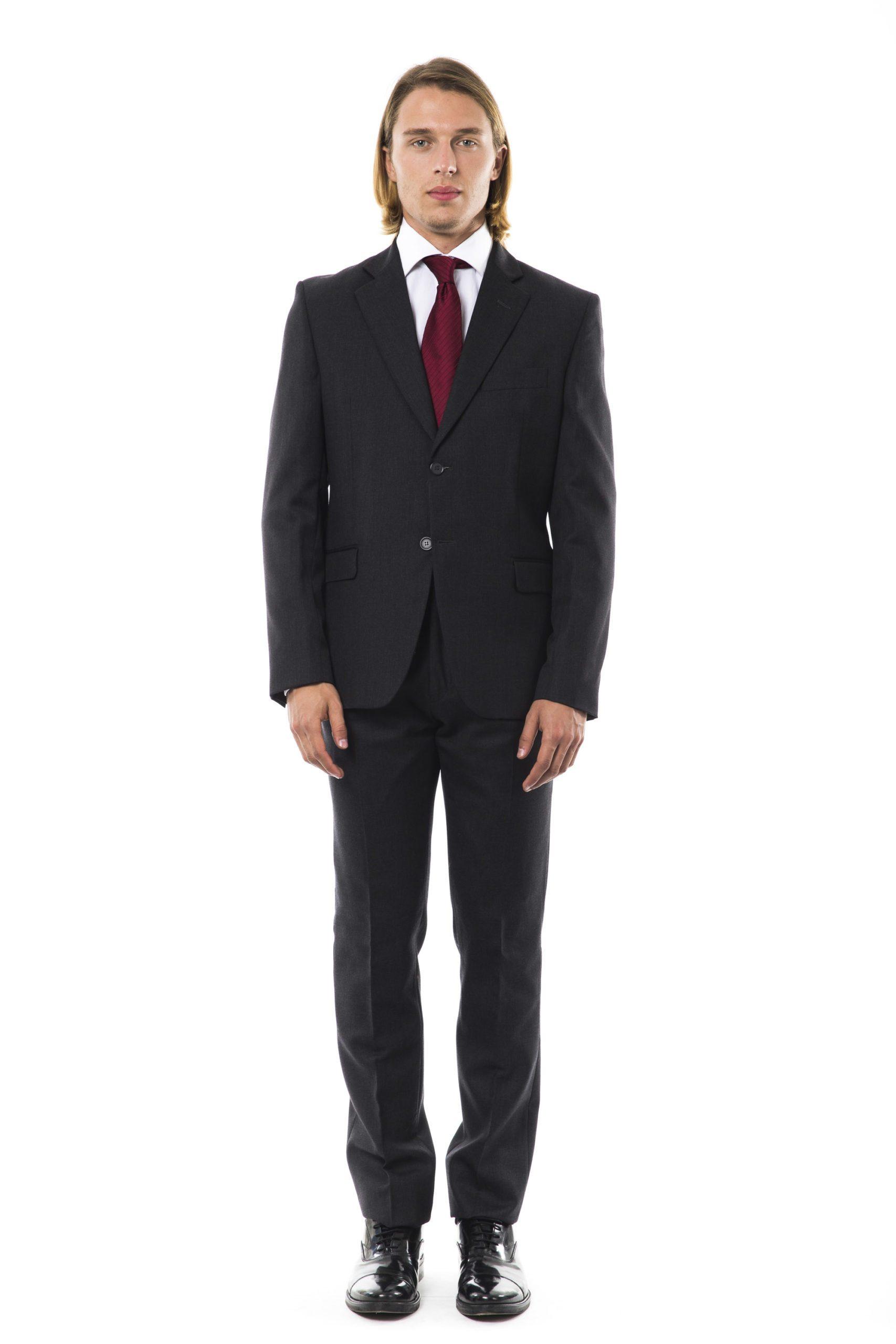Uominitaliani Men's Ugrigio Suit Gray UO1273817 - IT54 | XL