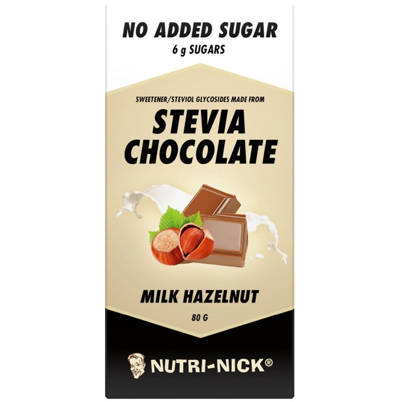 Mjölkchoklad Hasselnöt Stevia 80g - 60% rabatt