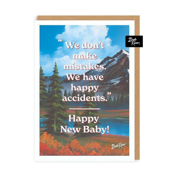 We Don't Make Mistakes New Baby Greeting card