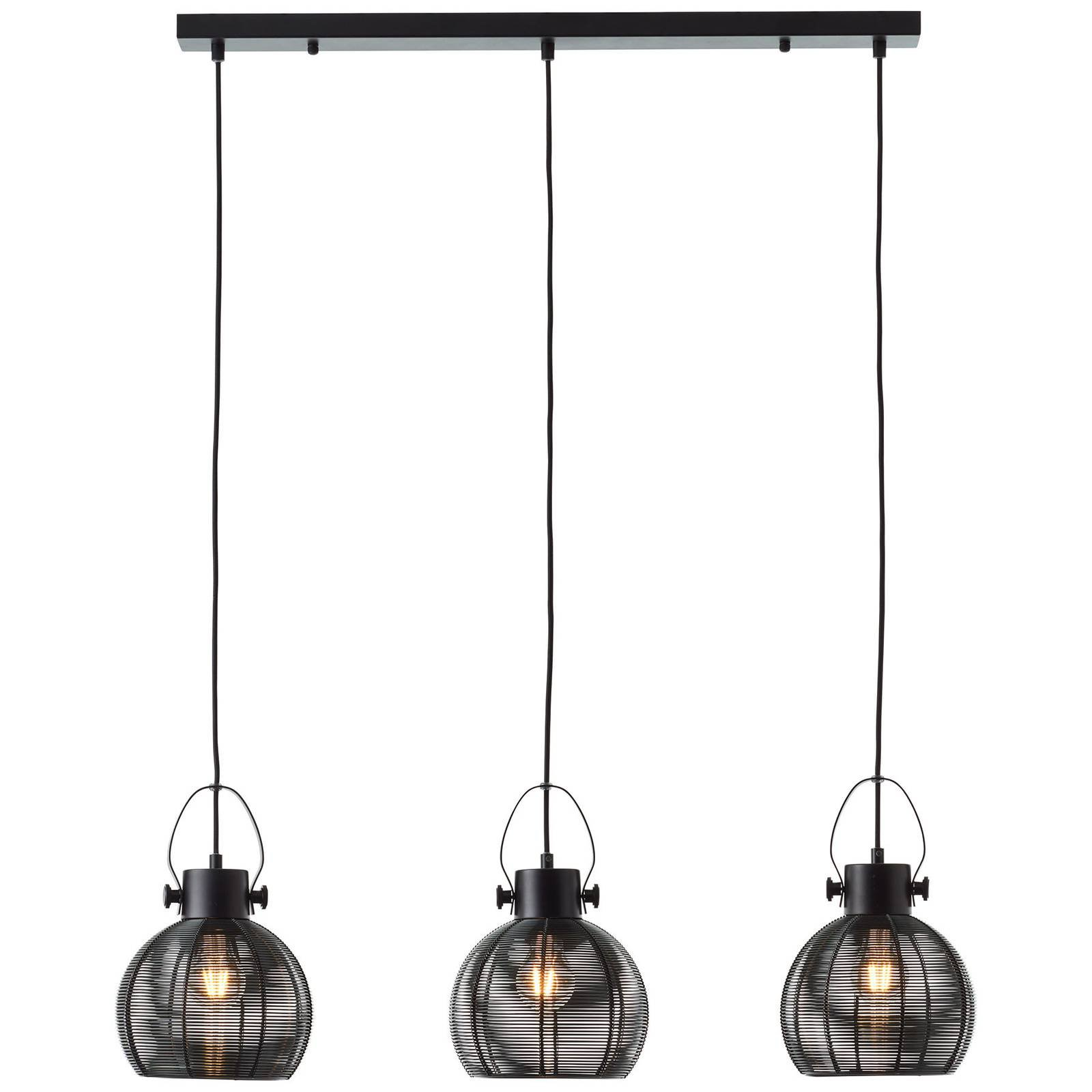 Hengelampe Sambo, bjelke, svart, 3 lyskilder