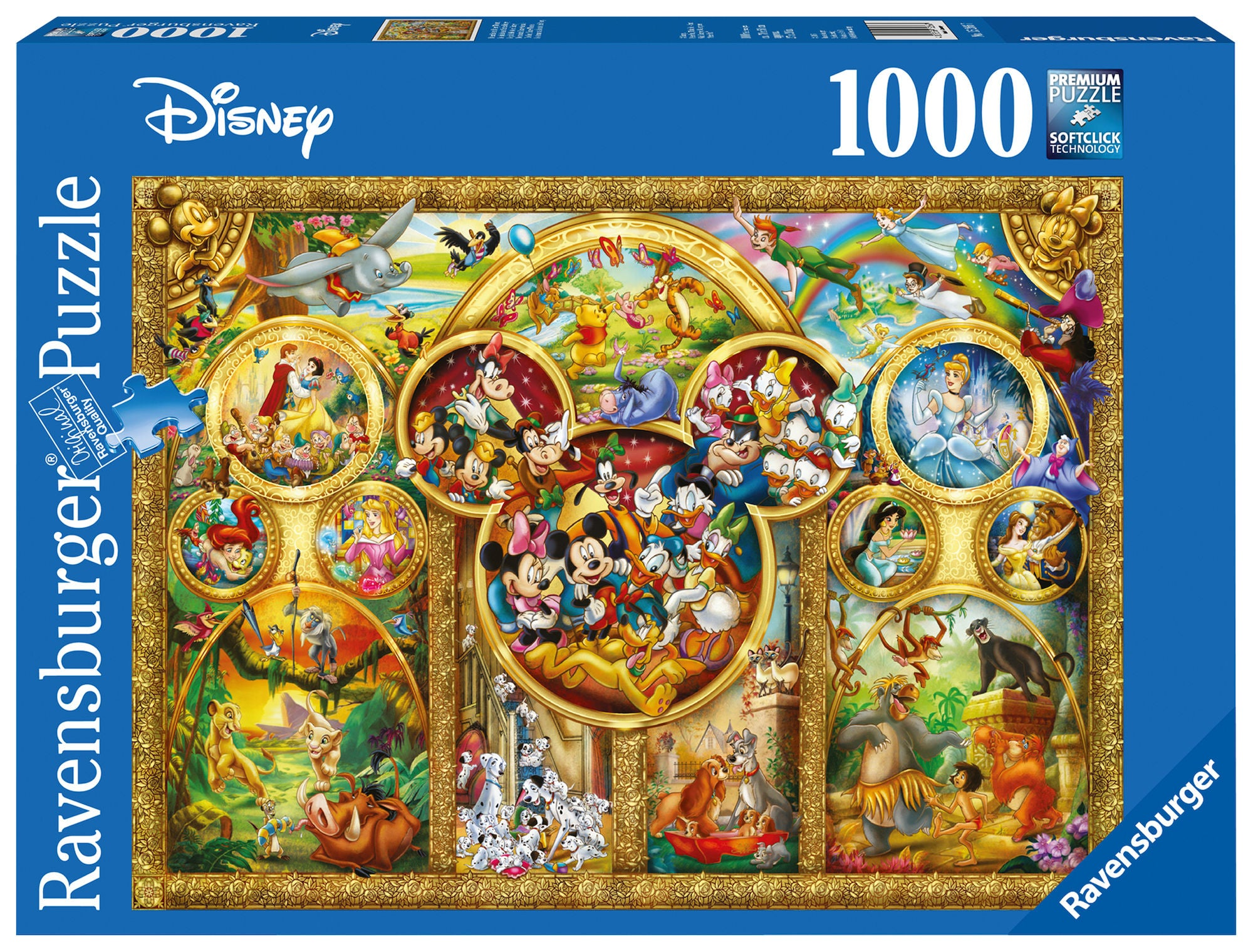 Ravensburger Pussel De Bästa Disney-teman 1000 Bitar