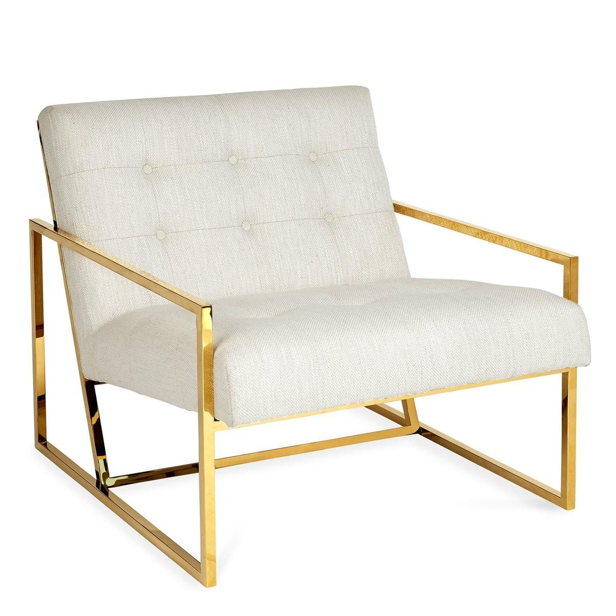 Jonathan Adler I Goldfinger Lounge Chair I Lucerne Oyster