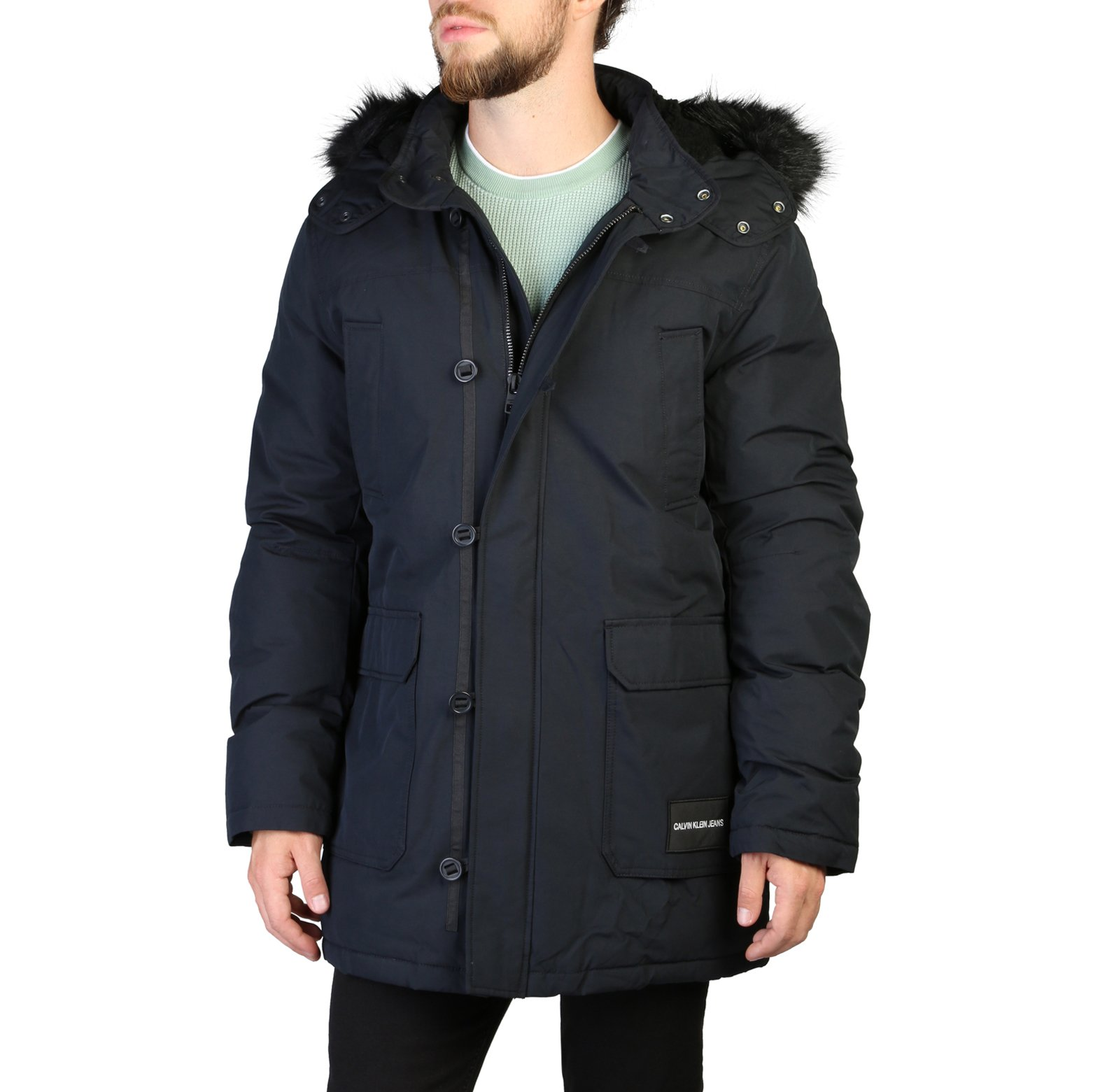 Calvin Klein Men's Jacket Green 349348 - black XL