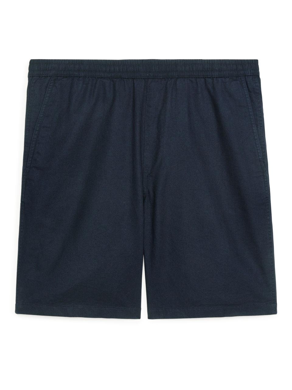 Relaxed Linen Shorts - Blue