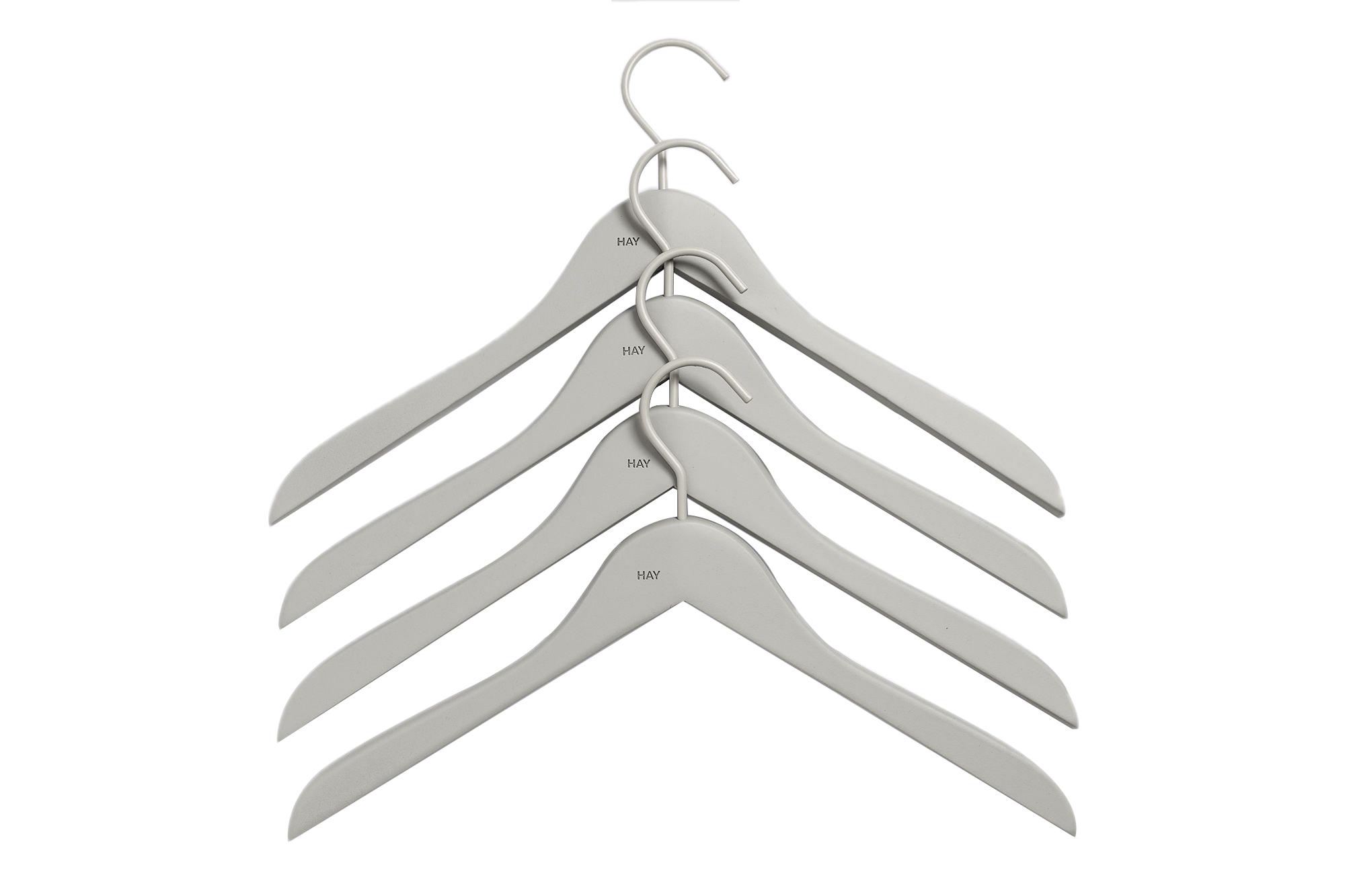 HAY - Soft Coat Hanger Slim Set of 4 - Grey (500079)