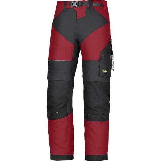 Snickers 6903 FlexiWork Työhousut punainen/musta C44