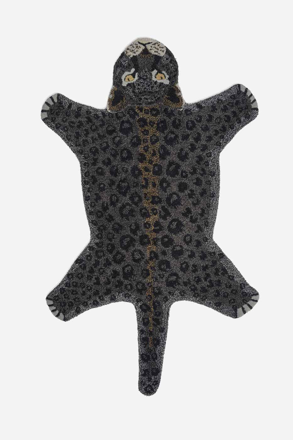 Matta leopard 90x150 cm svart