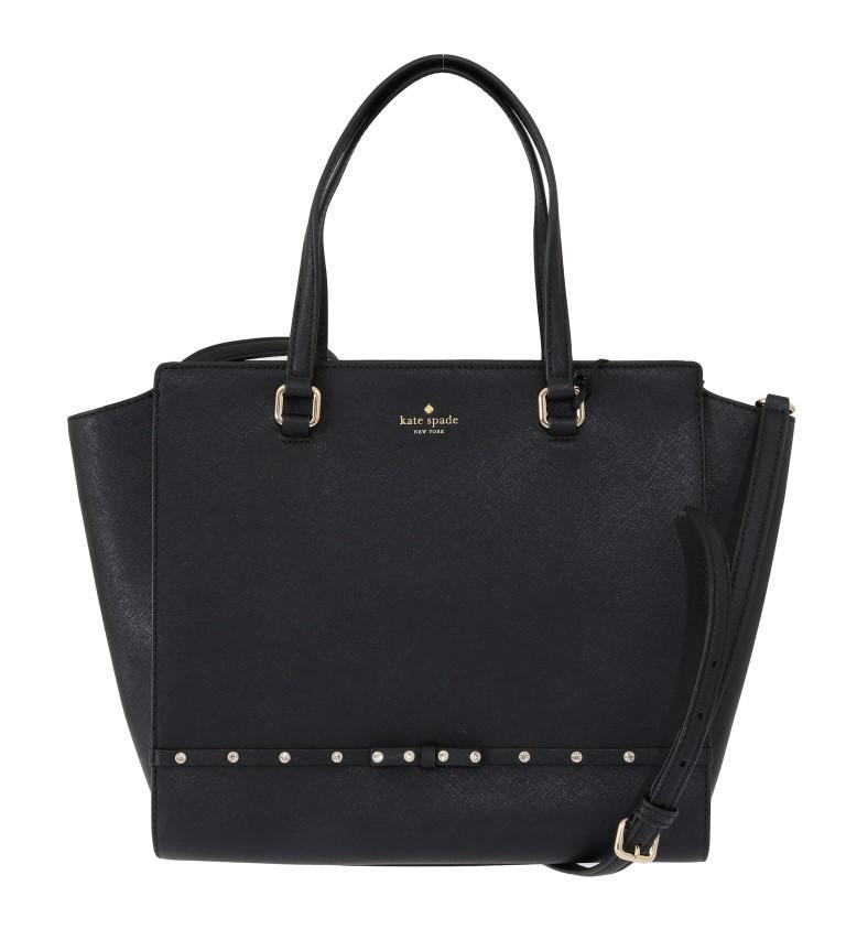 Kate Spade Women's HANDLEE Leather Handbag Black VAS1801