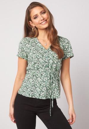 Happy Holly Blake blouse Khaki green / Patterned 40/42