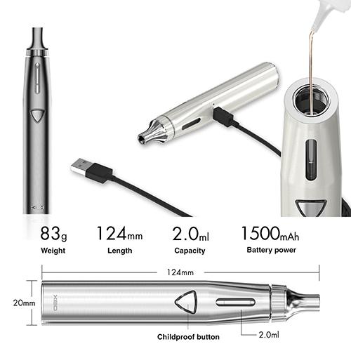 XEO VOID Vaporizer startpaket e-cigarett -Borstad Silver