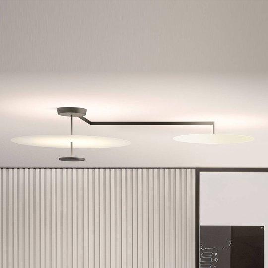 Vibia Flat LED-taklampe 3 lyskilder, Ø 55 cm hvit