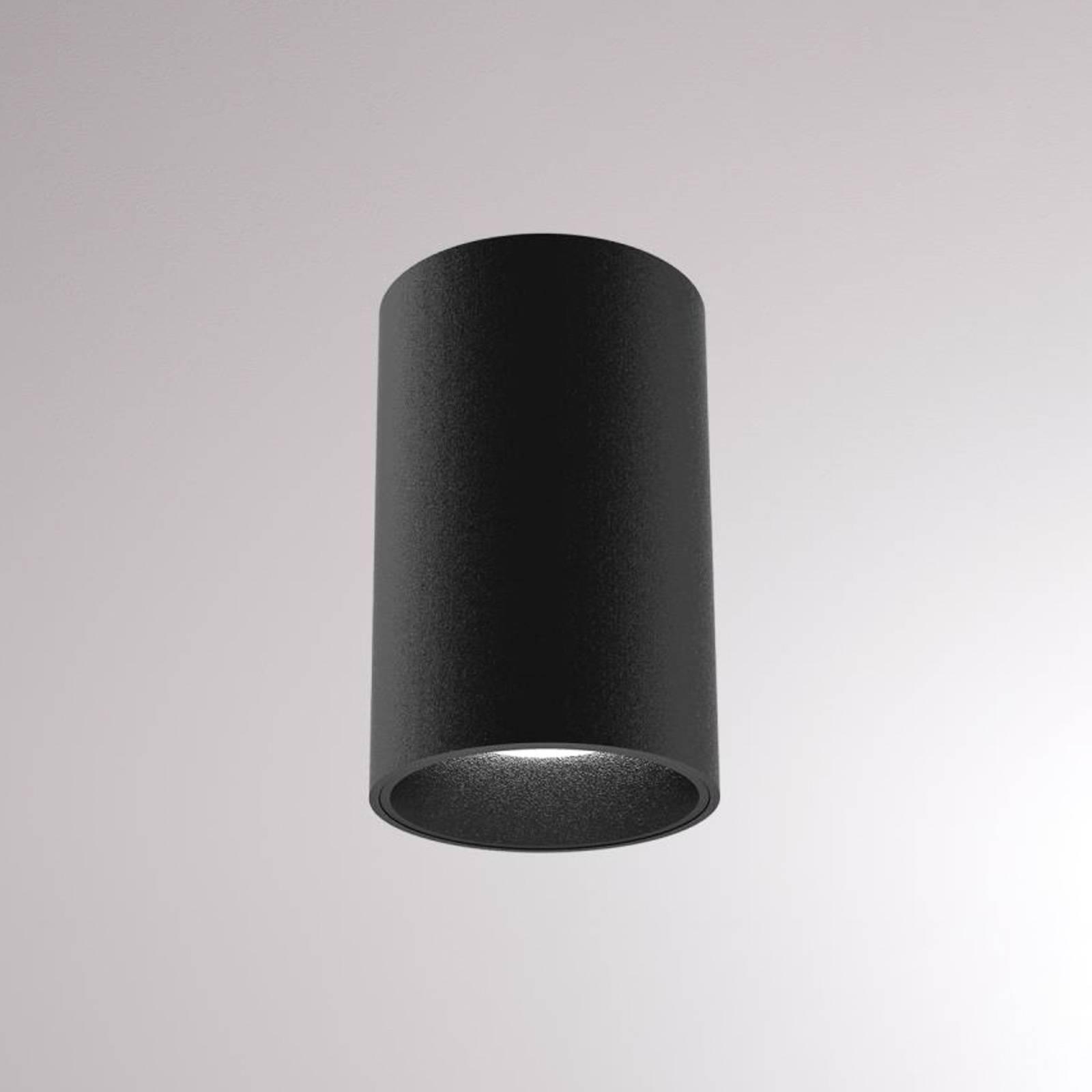 LOUM Atus Round -LED-kattovalaisin, musta