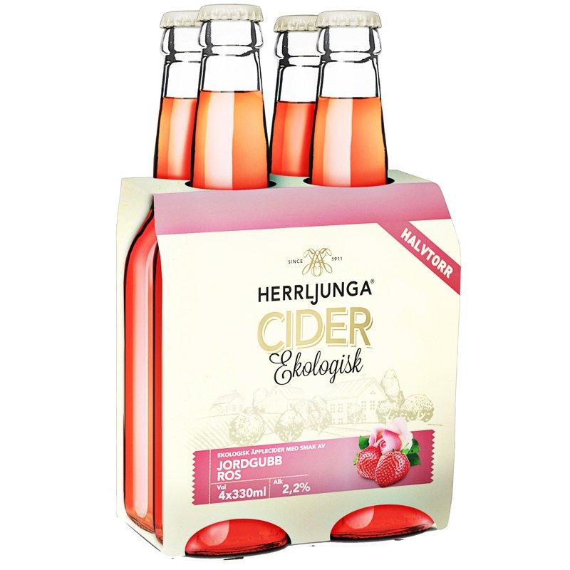 Cider Jordgubb & Ros 4 x 330ml - 23% rabatt