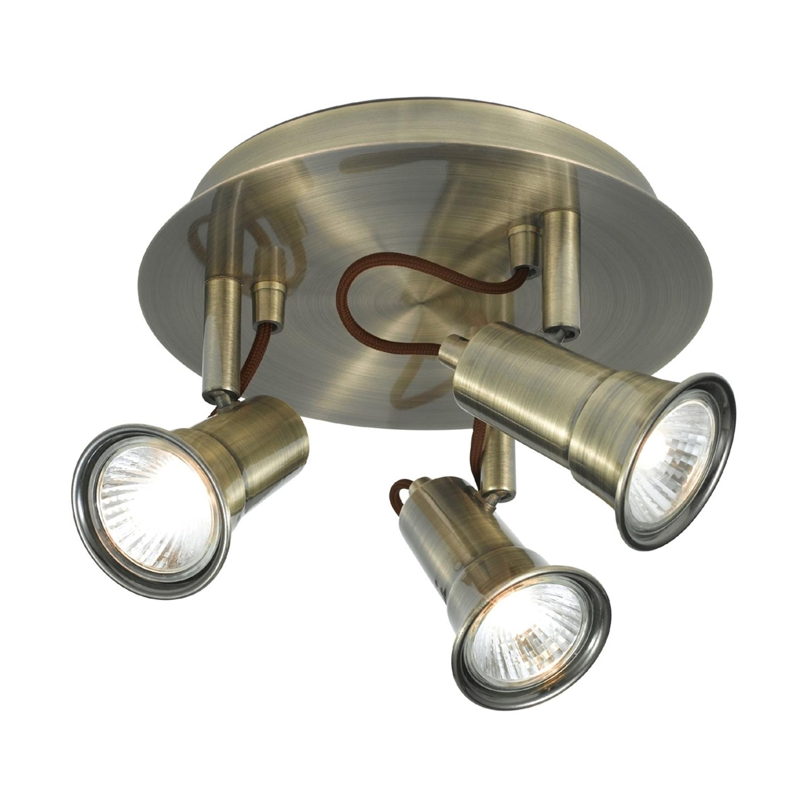 Pyöreä 3-lamppuinen EROS-kattokohdevalaisin