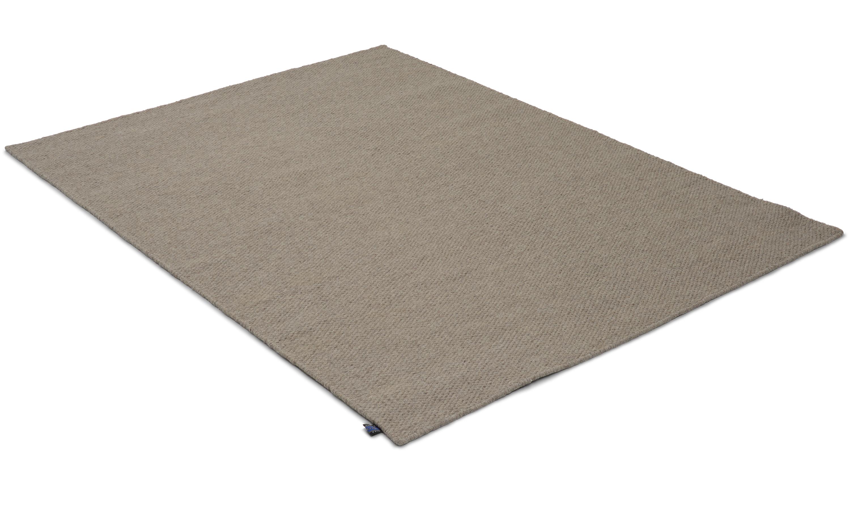 Fårö grå - håndvevd ullteppe