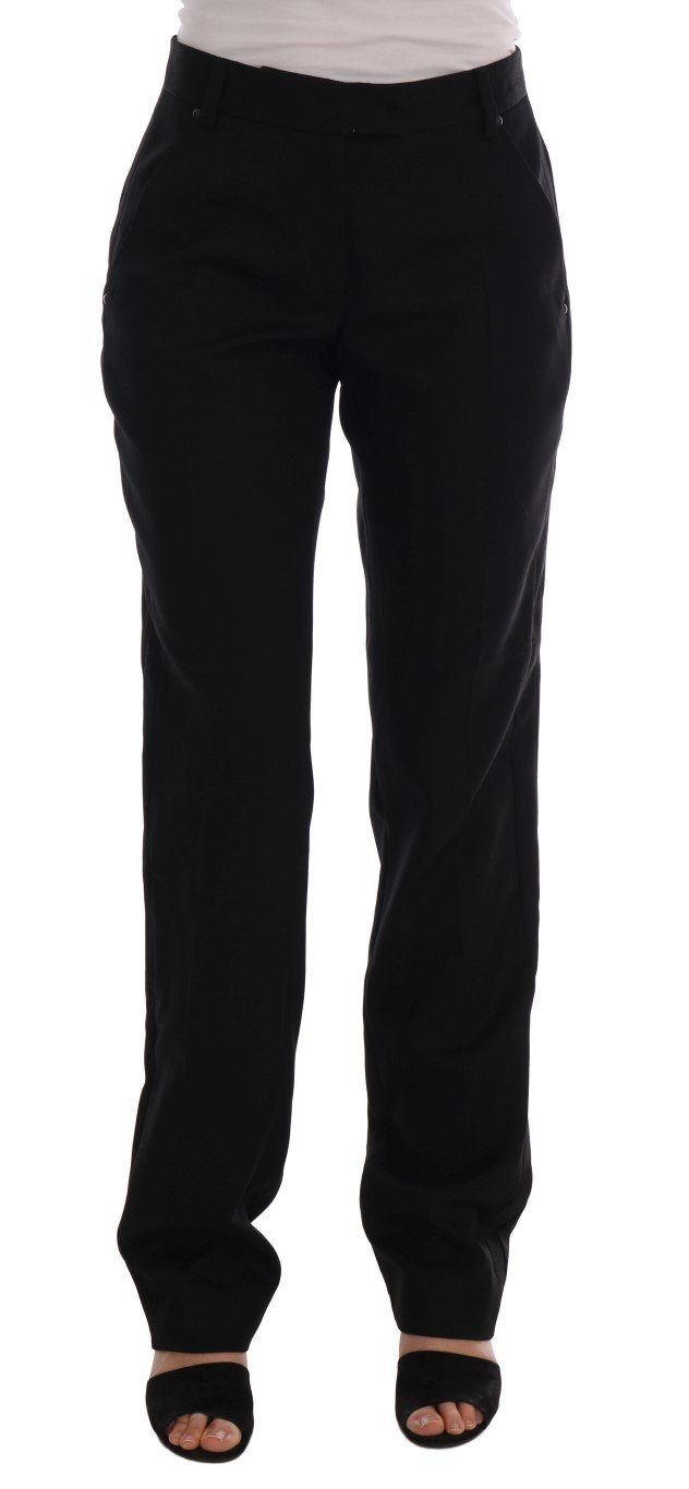 Ermanno Scervino Women's Straight Formal Trouser Black BYX1153 - IT44|L