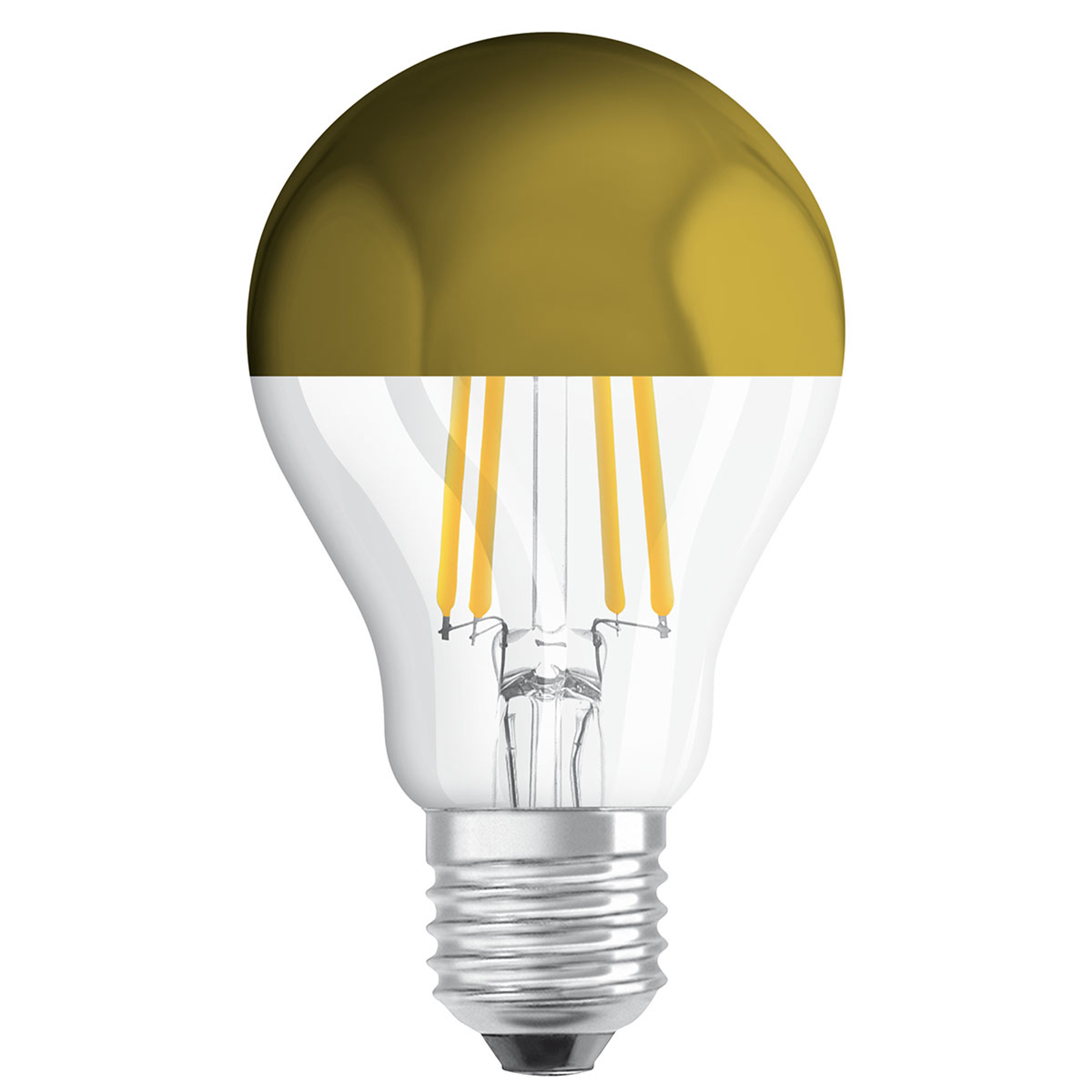 OSRAM-LED-lamppu E27 CLA Mirror gold 4W 2 700 K