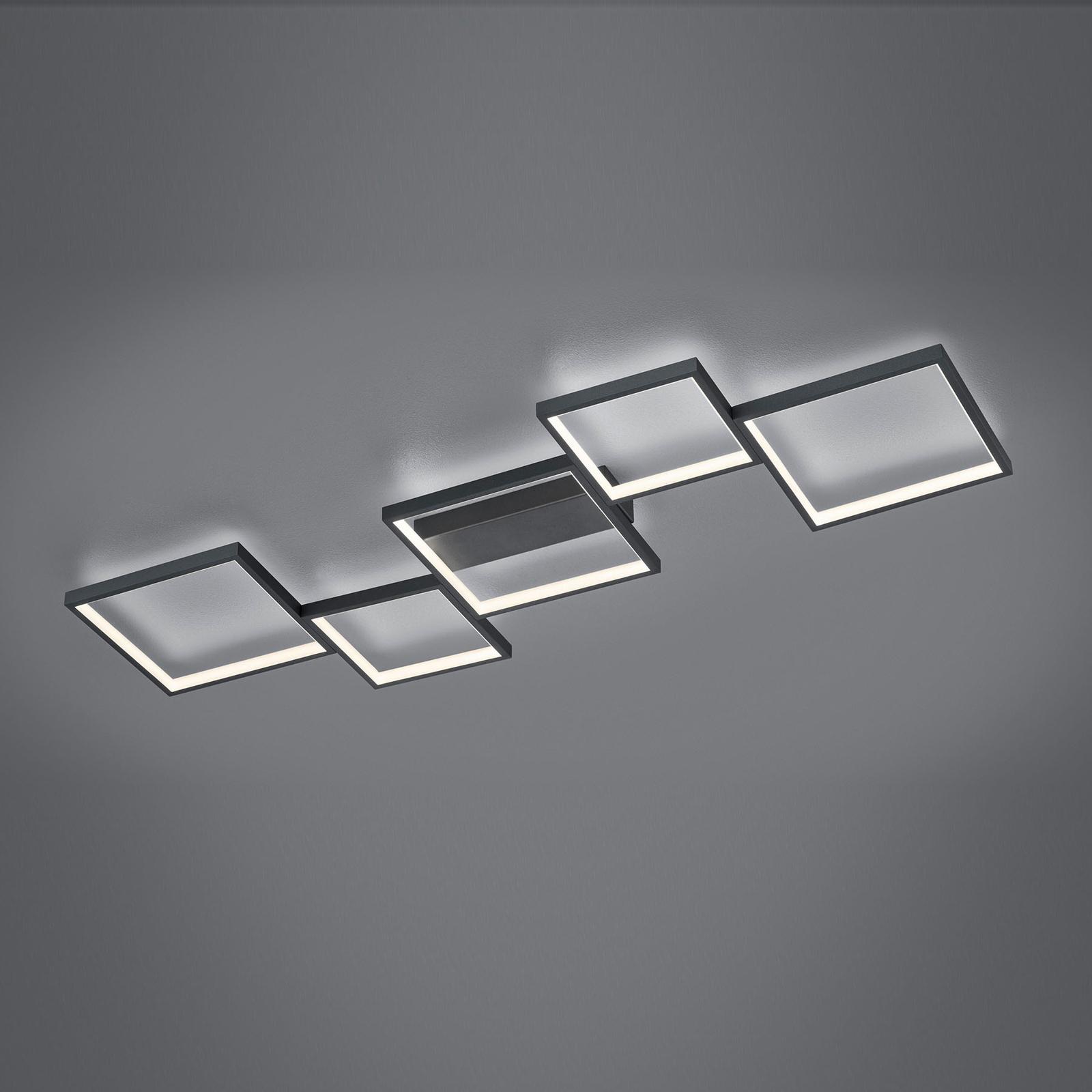 LED-kattovalaisin Sorrento 120x48cm, matta musta