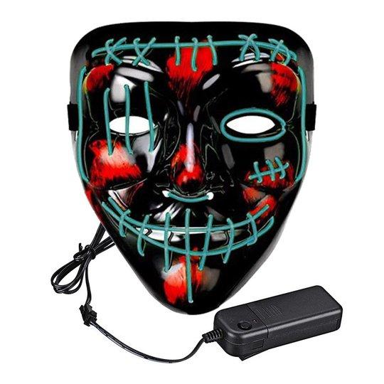 El Wire Purge 2 LED Mask - Turkos