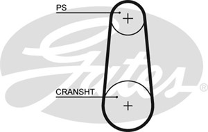 Hammashihna, PORSCHE 911, 911 Cabriolet, 911 Speedster, 96414718702, 96414718703