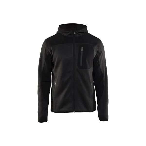 Blåkläder 493021179799L Jacka gråmelerad/svart, stickad Stl XL