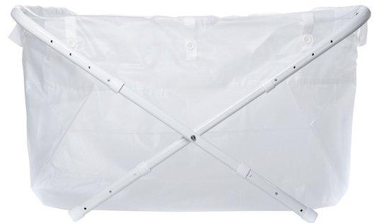 BiBaBad Flexi Sammenleggbart Badekar 70-90 cm, Transparent