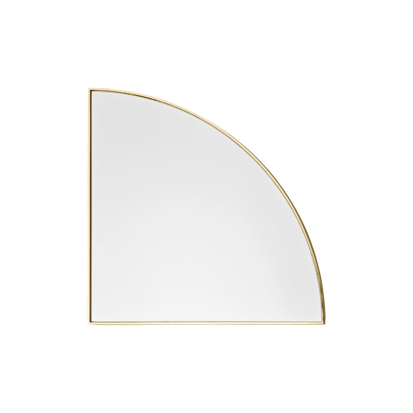 Spegel UNITY kvarts cirkel guld, AYTM