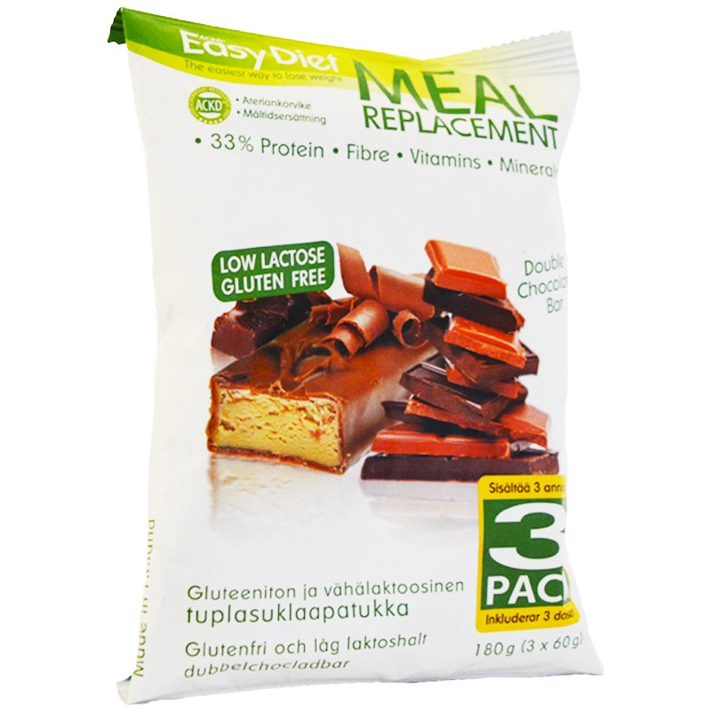 "Ateriankorvikepatukka ""Double Chocolate"" 3 x 60 g - 69% alennus"
