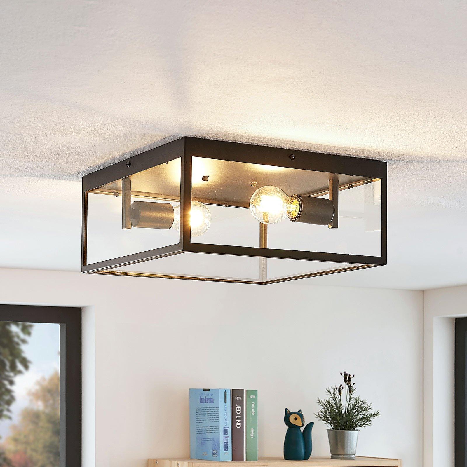 Lindby Antonios taklampe i bur-optikk
