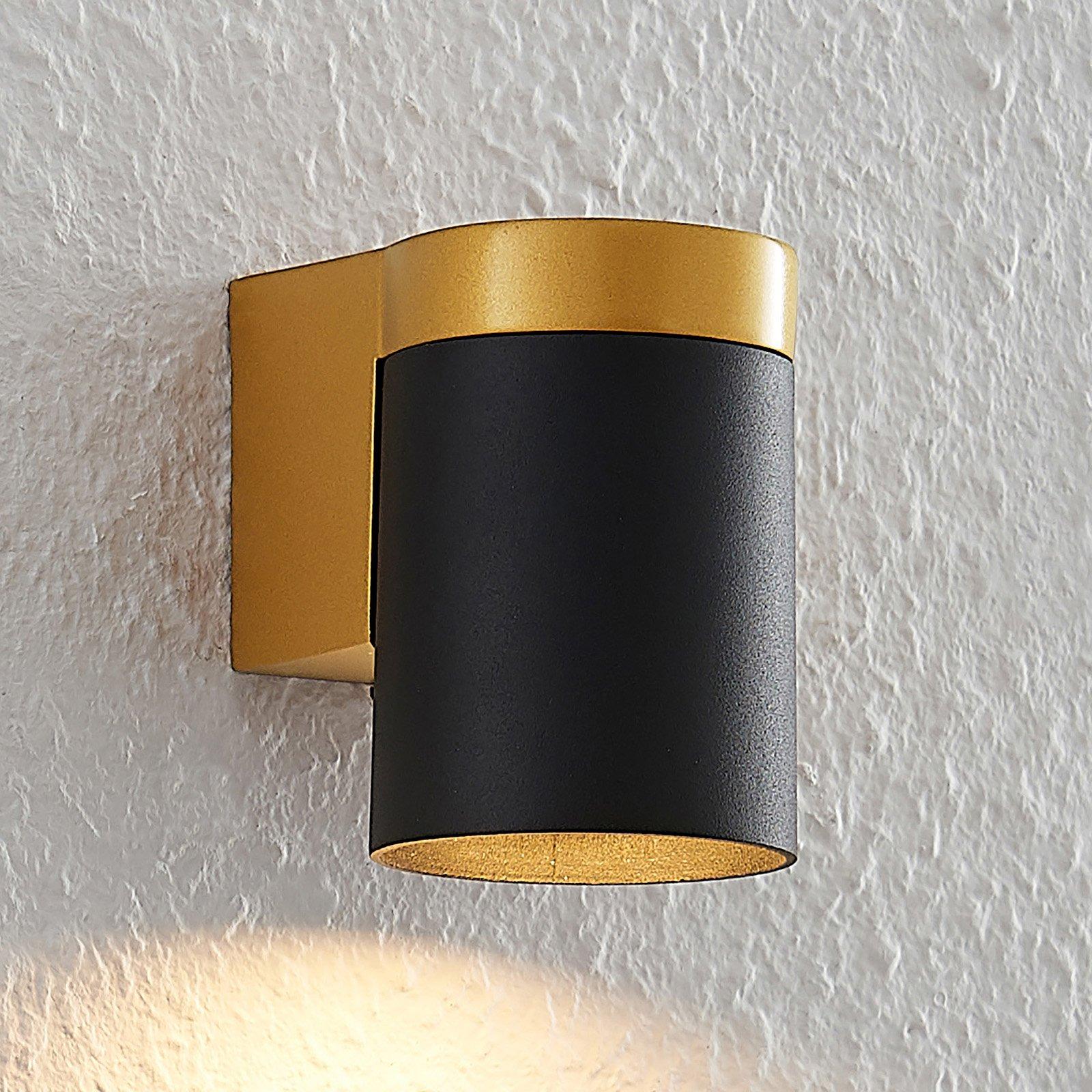 Arcchio Asra vegglampe, 1 lyskilde, svart