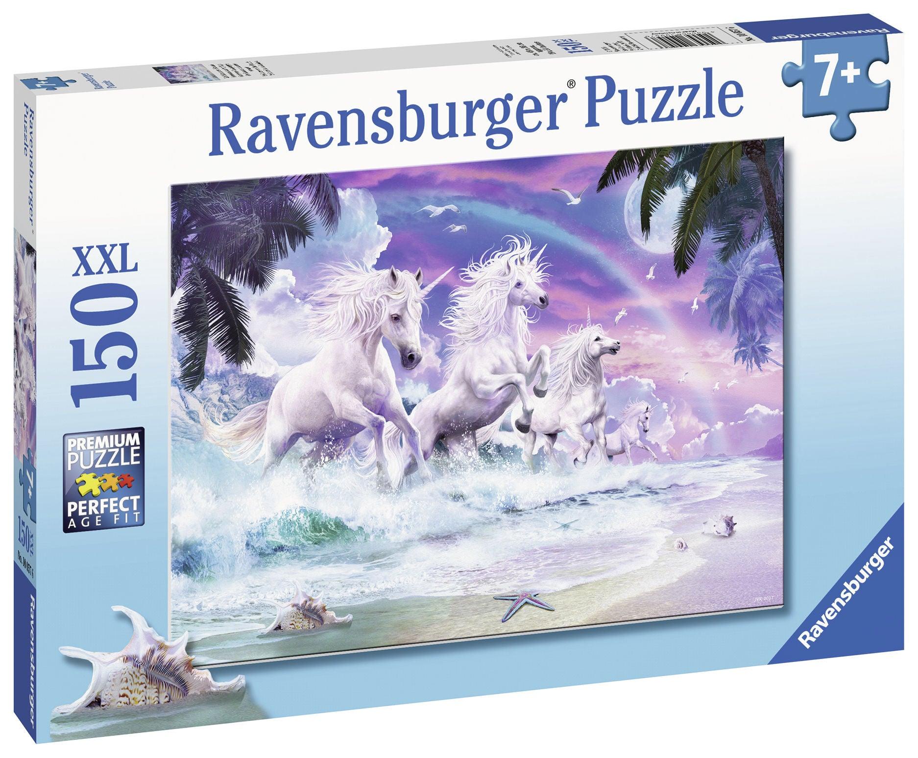 Ravensburger Pussel Enhörningar På Strand 150 Bitar