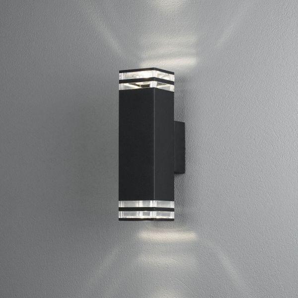 Konstsmide Antares Seinävalaisin 2 x GU10-kanta Musta