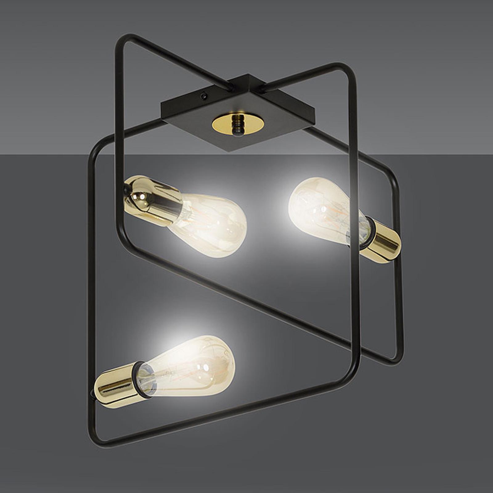 Kattovalaisin Savo 3 metallikehys, musta-kulta