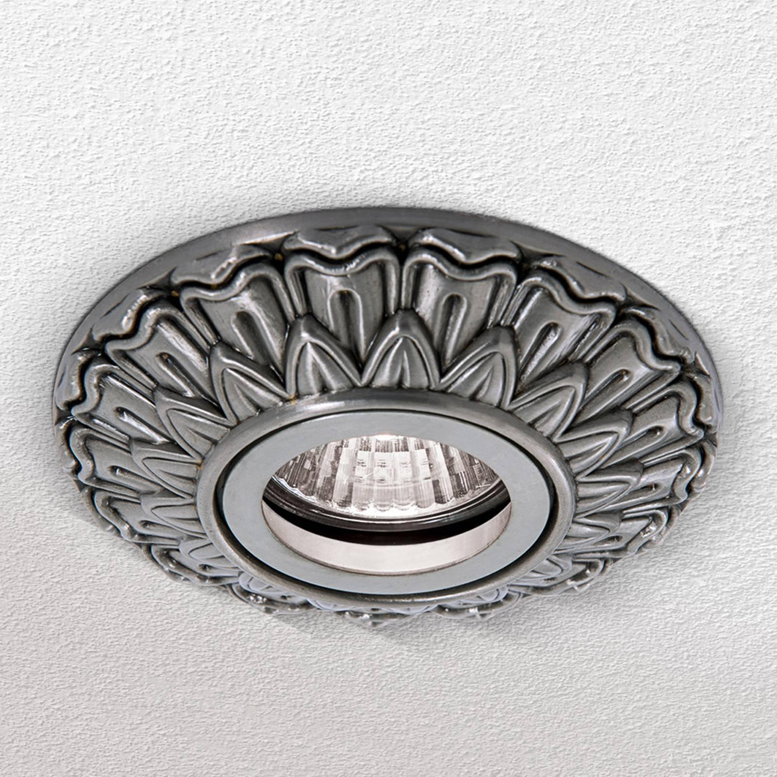 Uppokohdevalaisin Sada, pyöreä hopea antiikki
