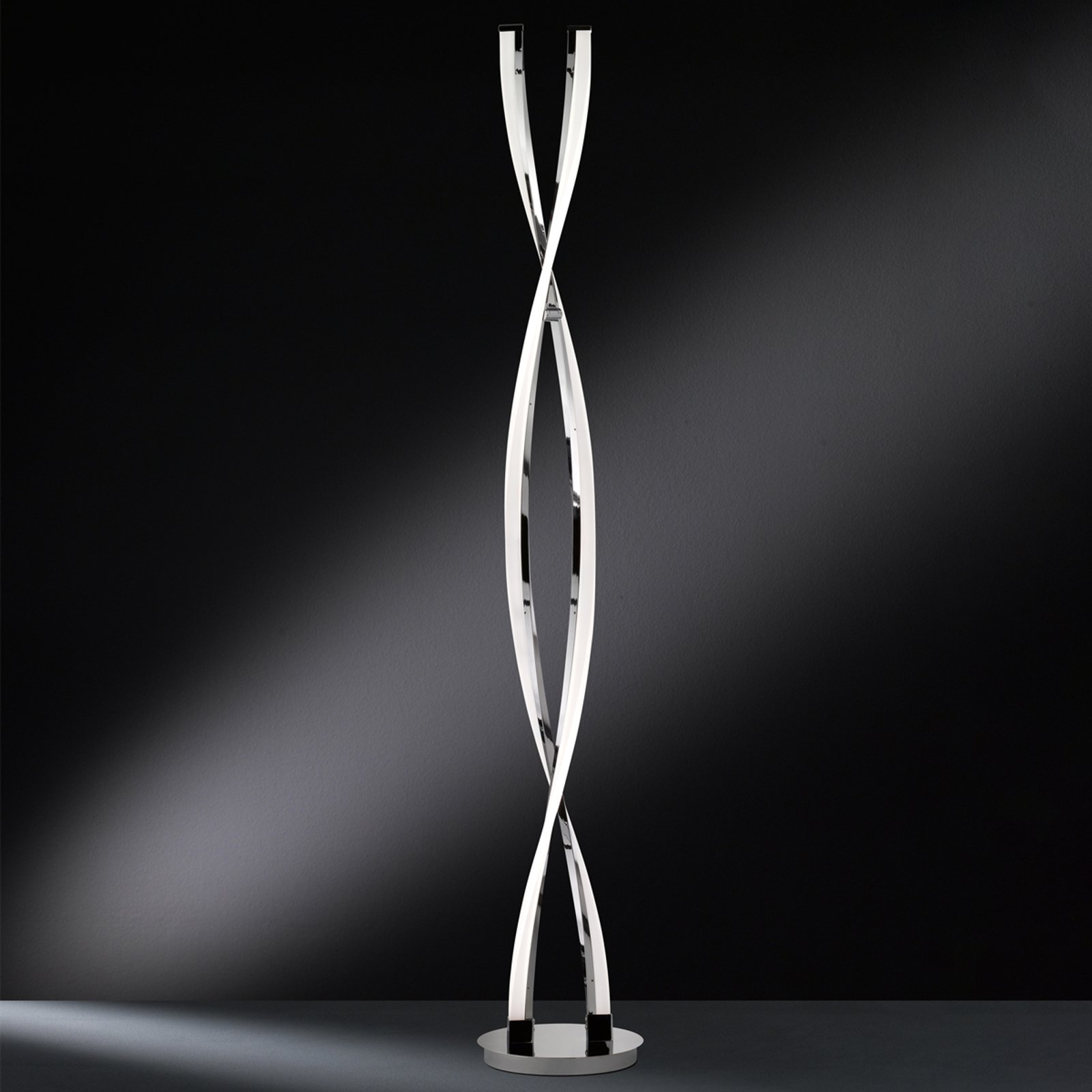 Trinnløs dimbar LED-stålampe Idana