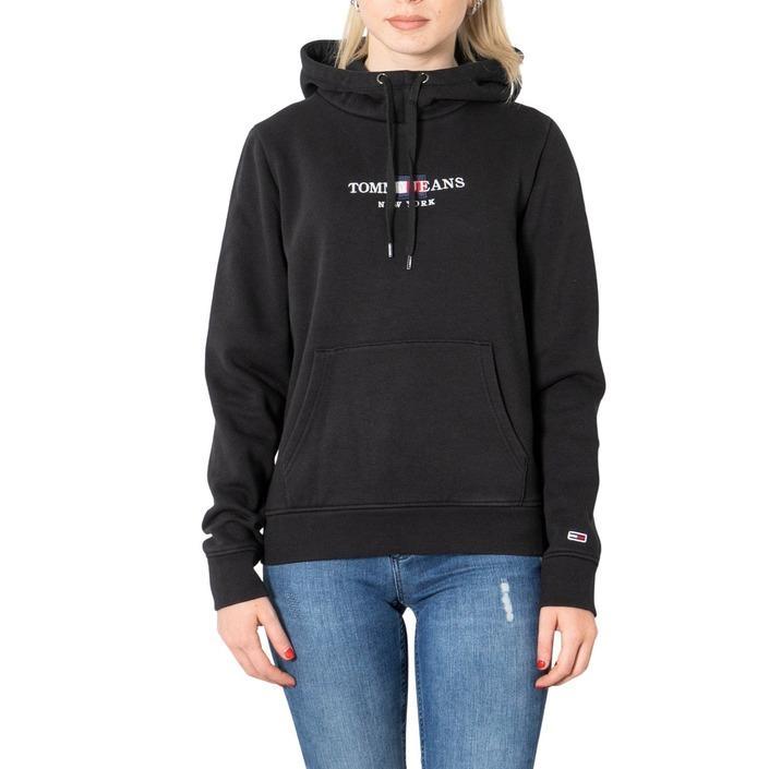 Tommy Hilfiger Jeans Women's Sweatshirt Black 273390 - black XXS