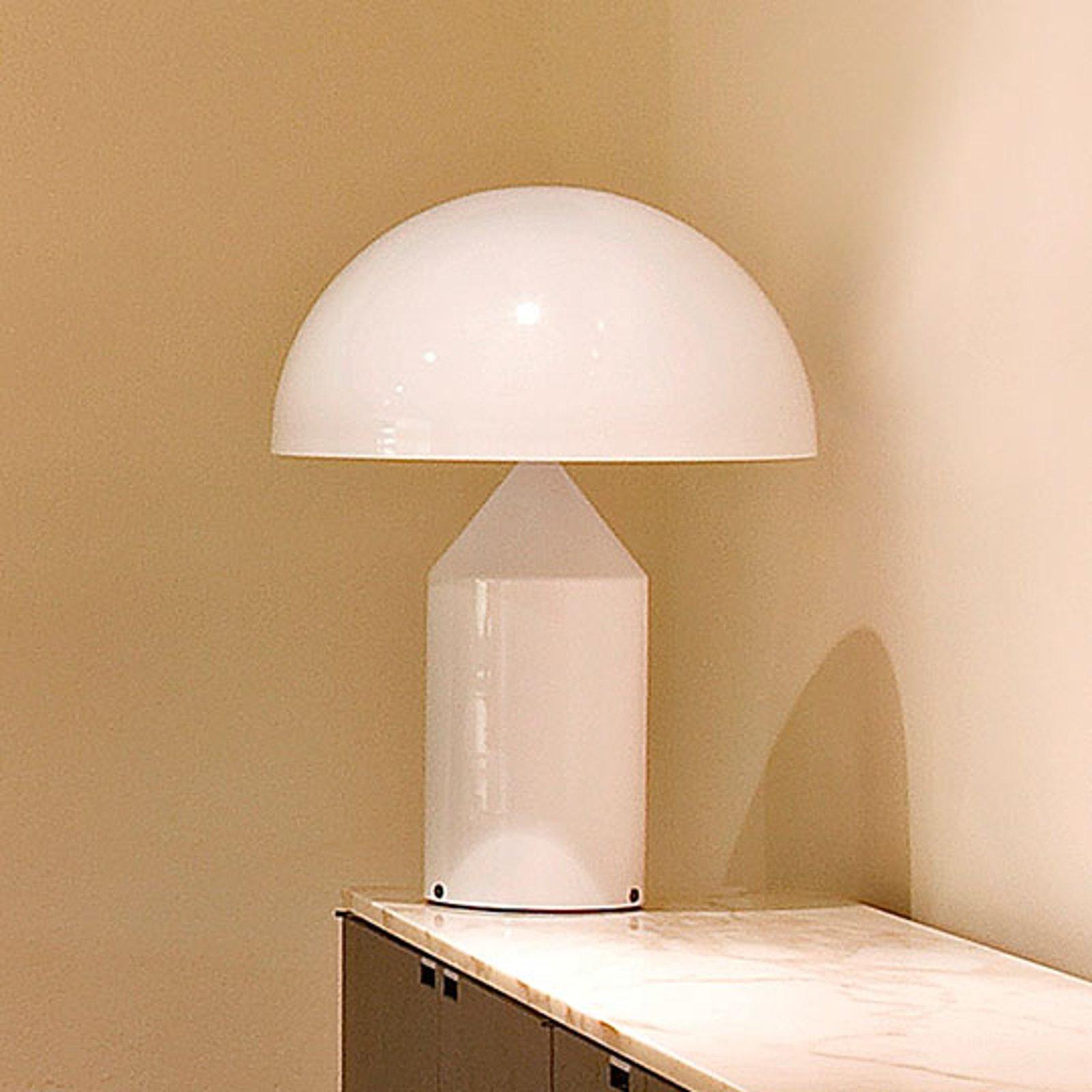Design-bordlampe Atollo m. dimmer, hvit