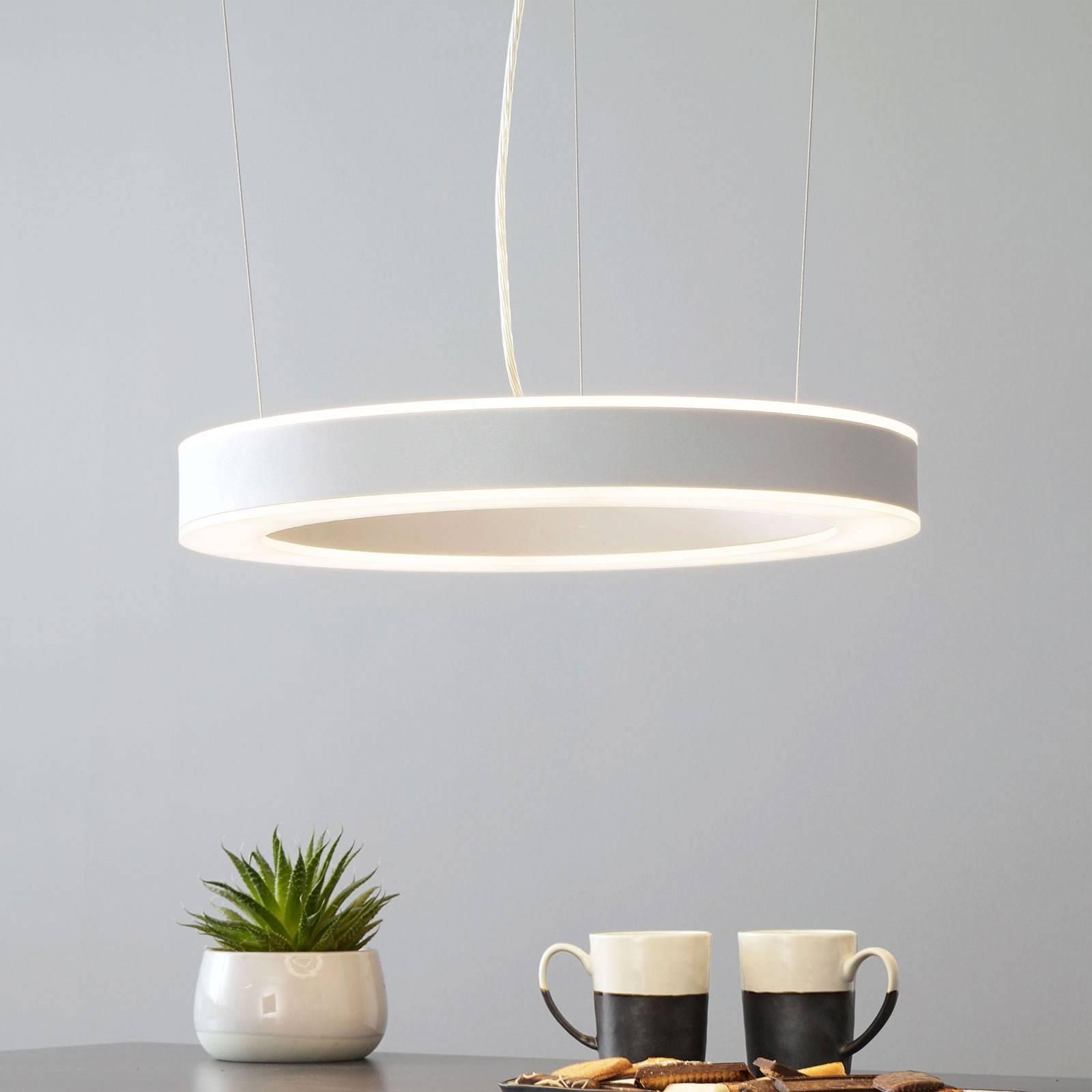Arcchio Pietro -LED-riippuvalaisin hopea 50cm 60W