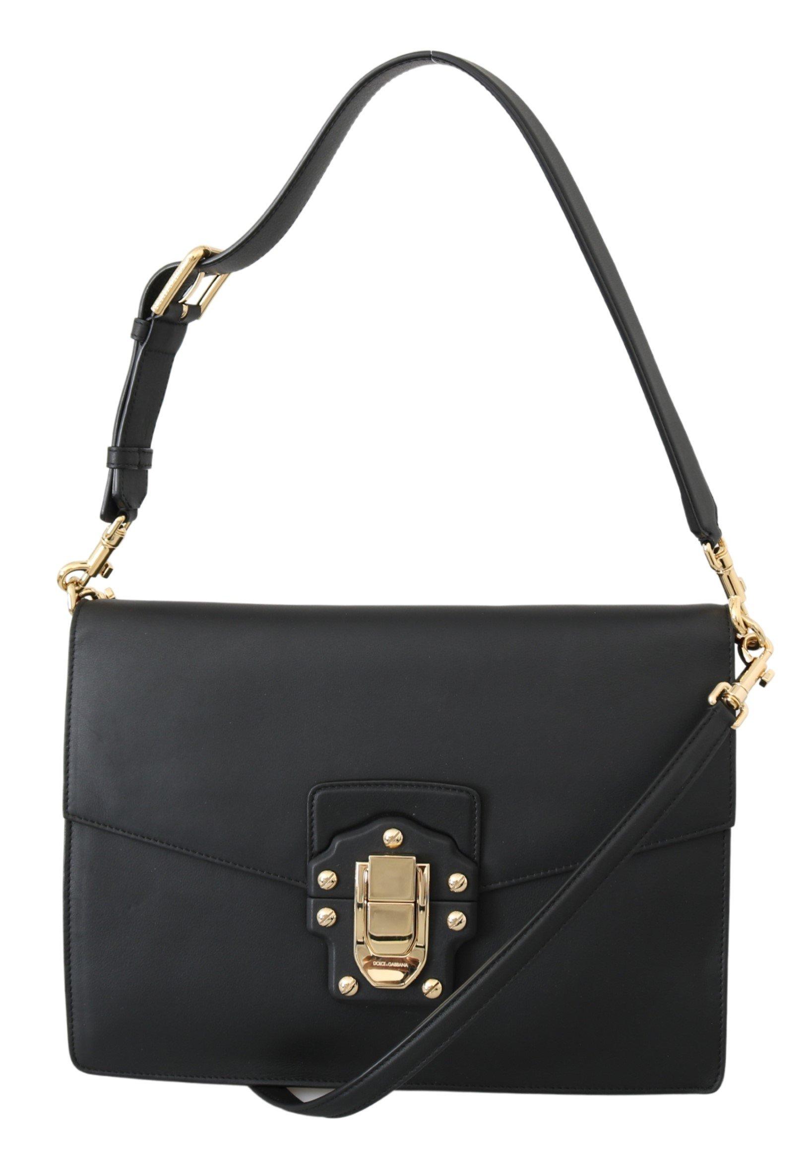 Dolce & Gabbana Women's Lucia Sling Leather Shoulder Bag Black VAS10040