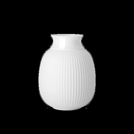Curve Vas Porslin Vit 17,5 cm