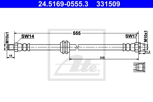Jarruletku ATE 24.5169-0555.3