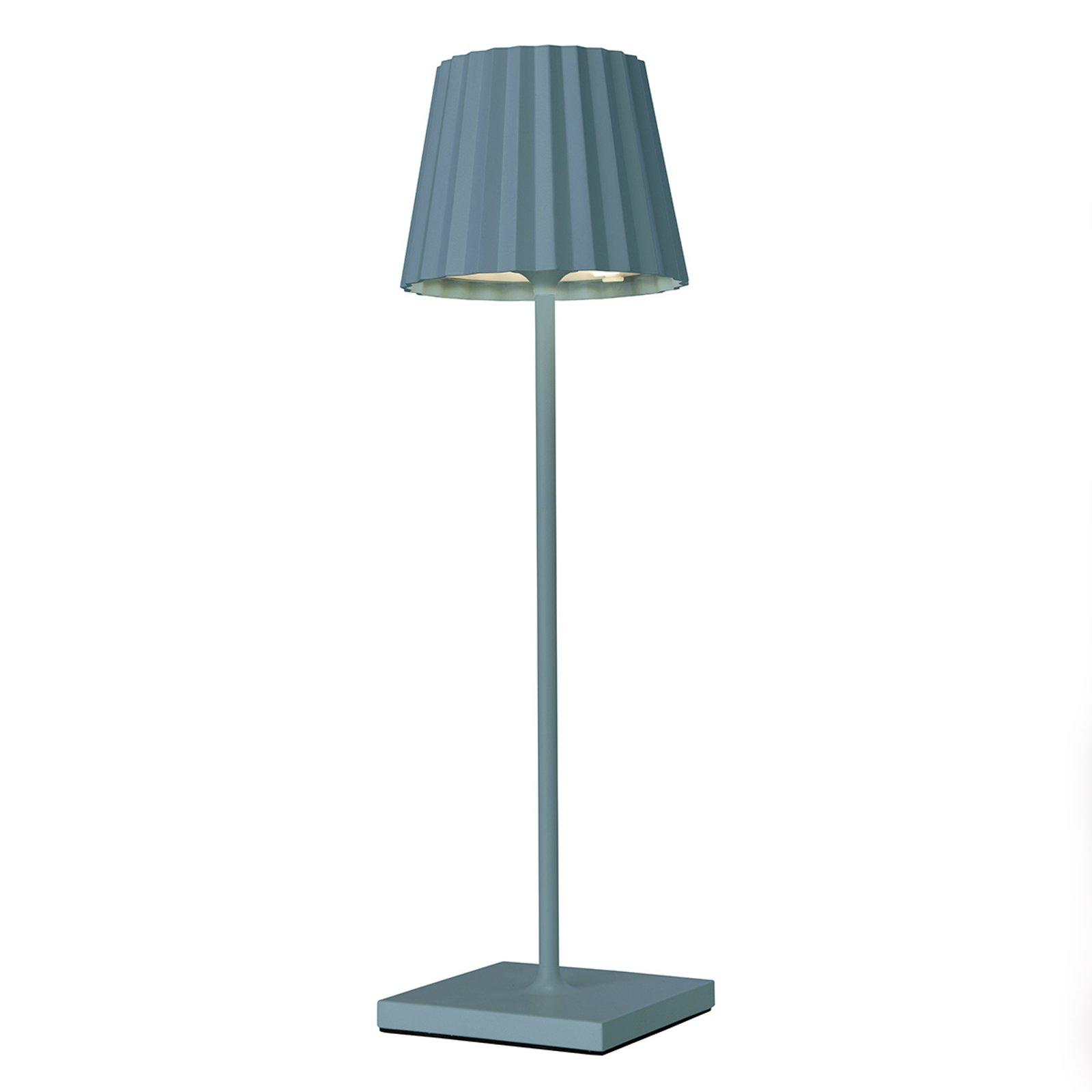 LED-bordlampe Troll 2.0 for uteområdet, blå