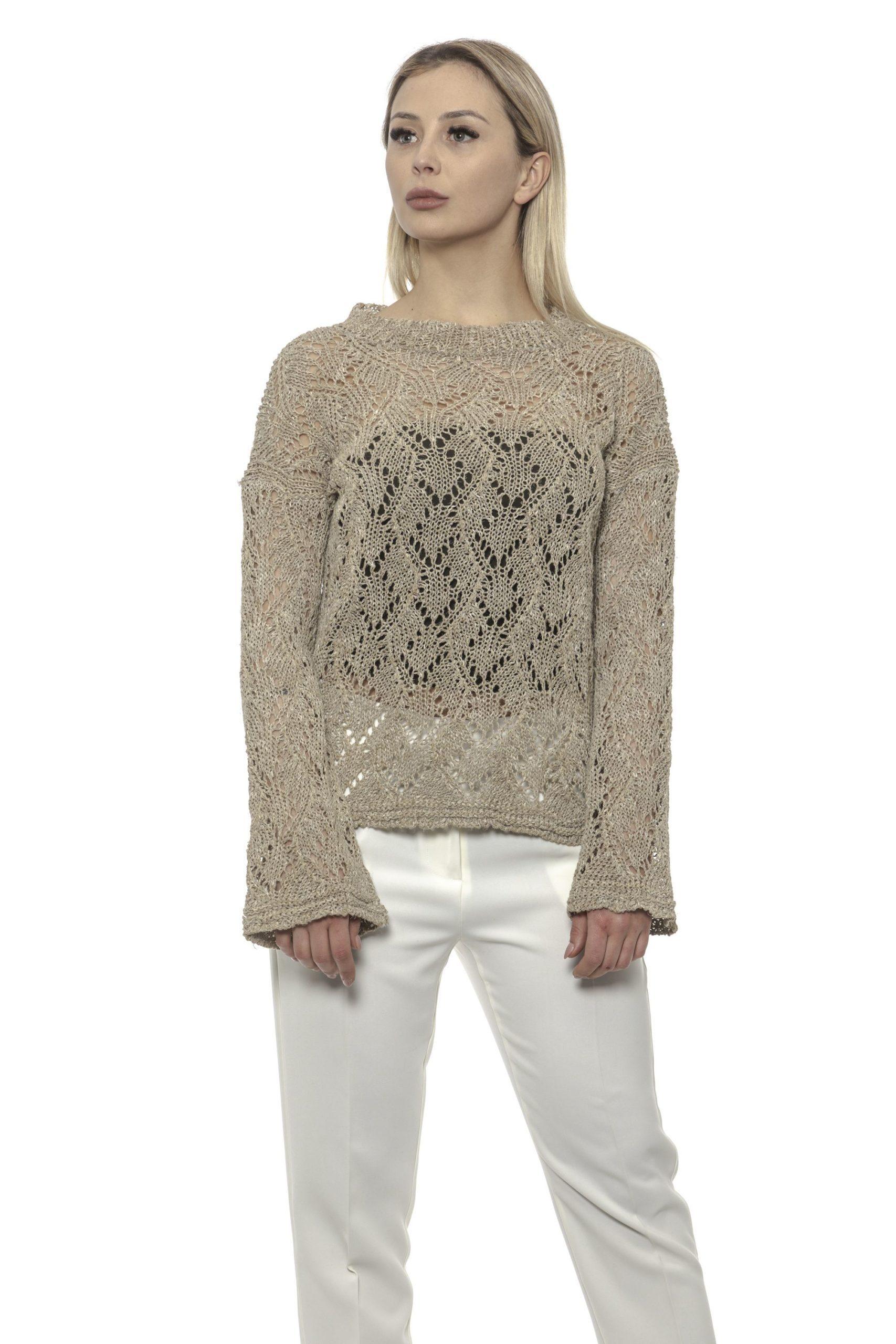 Alpha Studio Women's Spago Sweater Beige AL1375115 - IT40   XS