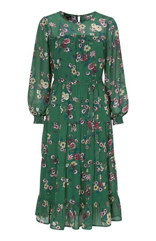 Happy Holly Mönstrad klänning Marcella Grön Mönstrad