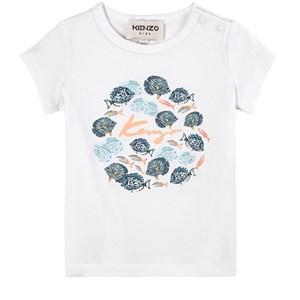 Kenzo Under The Sea T-shirt Vit 6 mån