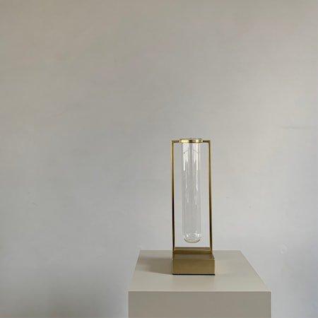 Tate Mini Vase Glass og Messing